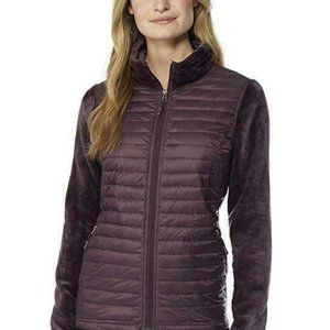 32 Degrees Women's Full Zip Mixed Media Jacket
